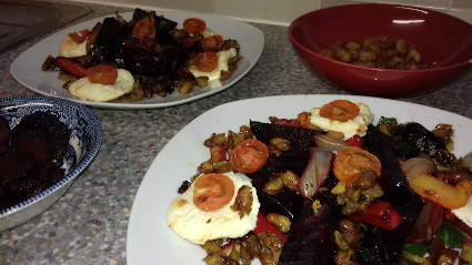 Beetroot and Bryndza warm Salad