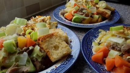 Cawl & Welsh Potato Cake recipe