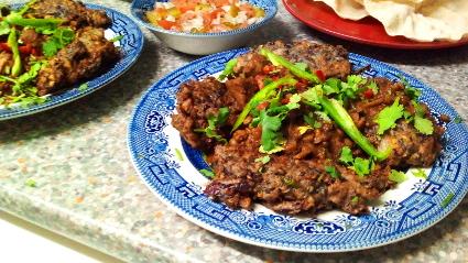Red Cabbage Vada & Gurkha style Dal Gosht