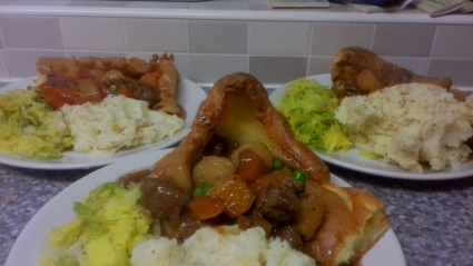 Casserole in a Giant Yorkshire Pudding