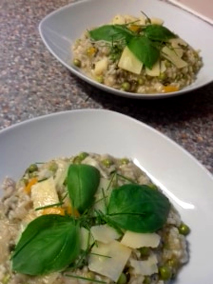 Risotto with Mushrooms and Orange Pepper
