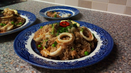 Calamari Risotto Style recipe