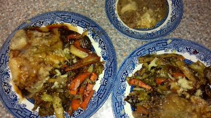 Cottage Pie and stir fried Veg