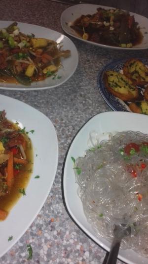 Pork & Chorizo Stir Fry with Korean Glass Noodles
