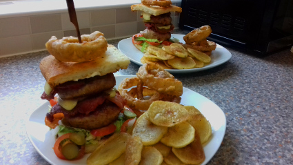 Mini Monster Turkey Burgers with Chilli Sauce