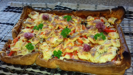 Italian Style Vegetarian Pizza with a Yorkshire twist
