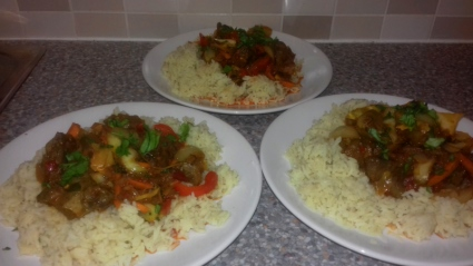 Ghanaian style fried Liver in a Spicy Pepper Sauce
