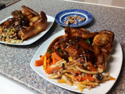 Peking Duck insanity in a Giant Yorkshire Pudding