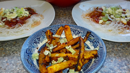 Daikon Chips & Salad