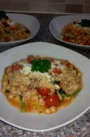 Mackerel & Chickpea Risotto recipe