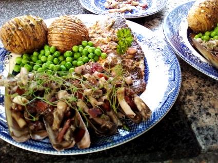 Fish Friday -1, sea bass and razor clams